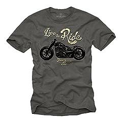 MAKAYA Ropa Moto Hombre - Camiseta con Mensaje Life TO Ride