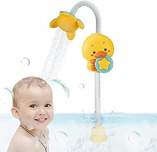 Baby Bath Toys Dusch Head Toy, Electric Duck Water Spray Bathtub Toy Water Games, Justerbar Sprinkler, Två sprutlägen, För...