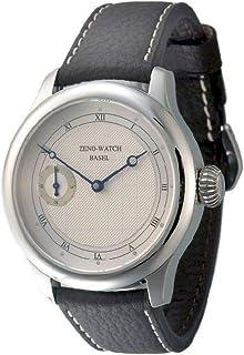 Zeno Watch Basel - Reloj para Hombre Analógico Meccanico con Brazalete de Cuero 1461-i3