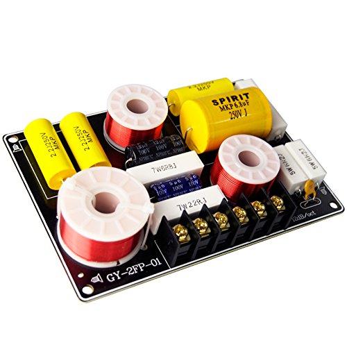 150W Frequency Divider 4~8 Ohm Ajustable Treble/Bass 2-Way Speaker Audio Crossover Filter for Subwoofer HiFi Speaker Home Car Audio Set DIY (2700Hz)