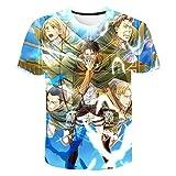 LOOVEE Attack On Titan Camiseta, 3D Shingeki No Kyojin Scout Regiment Levi·Ackerman Anime Cosplay T-Shirt Moda Casual Manga Corta Camiseta Camisa Ropa Sudadera Tops para Hombre Mujere Niña (H,M)