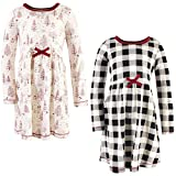 Touched by Nature Girls' Baby/Toddler Organic Cotton Short Dresses, Winter Woodland Long Sleeve,...
