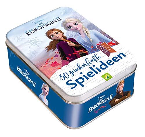 Die Eiskönigin 2 - 50 zauberhafte Spielideen für tolle Kinderpartys: Metall-Box mit 50 Karten