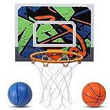 Pro *Indoor Mini Canastra de Bàsquet per a Nens – 16 x 12 polzades – Canastra de Bàsquet per a Porta i Paret – 2 Pilotes de Goma i 1 Bomba d'Aire – Regals per a Nens *Tikitaka