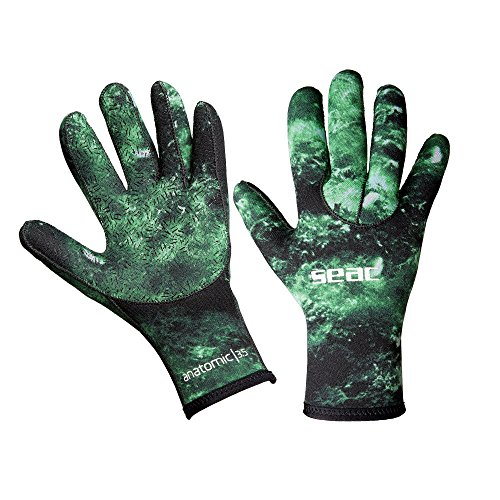 SEAC Anatomic Camo Gloves, 3.5mm Neoprene Diving Glove for Apnea Underwater Fishing in Camouflage Colour