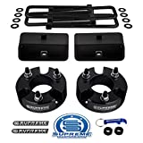 Supreme Suspensions - Full Lift Kit for 2005-2020 Nissan Frontier and 2009-2012 Suzuki Equator 3' Front Strut Spacers + 2' Rear Blocks + Square Bend U-Bolts 2WD 4WD (Black)