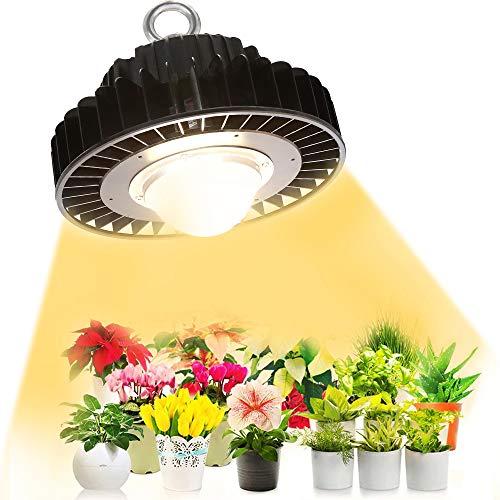 LED Pflanzenlampe, PDGROW Pflanzenlicht Vollspektrum Tageslichtweiß Wachstumslampe 400W CFL&HPS Äquivalent mit CREE CXB3590 COB, Dimmbarer MeanWell Treiber für Zimmerpflanzen Alle Wachstumsstadien