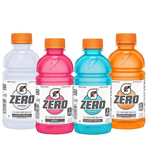 Gatorade Zero Sugar Thirst Quencher, Glacier Cherry Variety Pack, 12 Fl Oz, Pack of 24