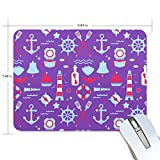 playroom Game Mouse pad Design Sailing Lighthouse Anchor Extended Ergonomic for Computers Mouse mat Custom-Made