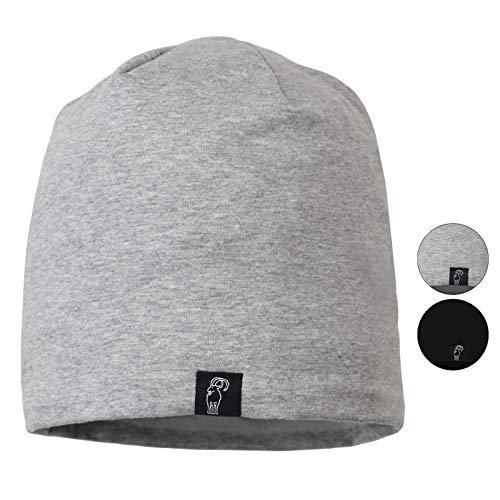 ALPIDEX Baumwollmütze TALPIN fleecegefüttert One Size Wintermütze Fleecefutter Unisex, Farbe:Mountain Grey