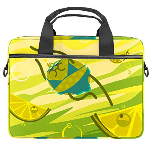 Laptop Bag Cute Lemon Notebook Sleeve with Handle 13.4-14.5 inches Carrying Shoulder Bag Briefcase