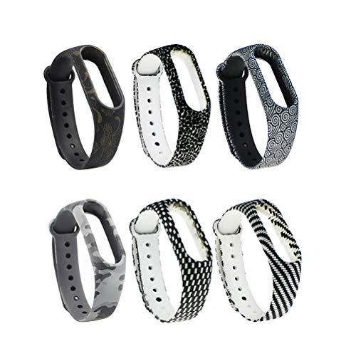 UKCOCO 6 pulseiras de substituição para Xiaomi Band 2 pulseiras Xiao mi 2 pulseiras de relógio/pulseira/pulseira para homens e mulheres