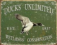Ducks Unlimited 金属板ブリキ看板警告サイン注意サイン表示パネル情報サイン金属安全サイン