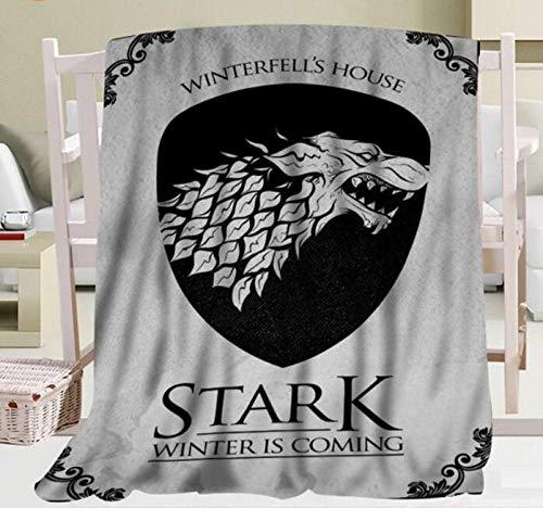 BLAMARIA Tagesdecken Game of Thrones Drachen Druck Flanell Weiche Warme Decke Blätter Decor Tapisserie Schlafsofa Reise Camping Decke (C) 150 * 200 cm