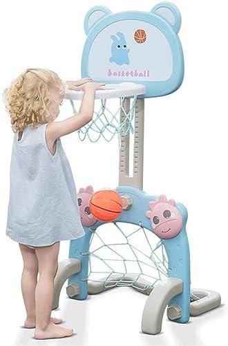 Kinder Basketball St er Anhebbare Basketball Box Home Indoor Und Outdoor Kinder Ball Spielzeug Outdoor Fun Toys (Farbe   Blau, Größe   53  116cm)