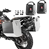 Maletas Laterales Aluminio Moto Atlas 2x41l + Bolsas Interiores + Kit Montaje