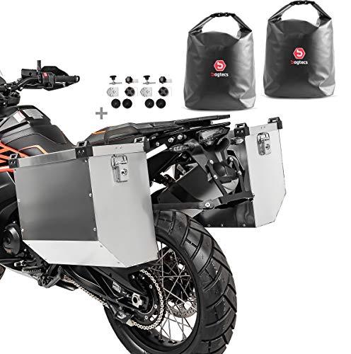Maletas Laterales Aluminio Moto Atlas 2x36l + Bolsas Interiores + Kit Montaje