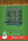 """304 medical grade stainless steel construction Outside Dimensions: 27""""W x 18""""D x 56.5""""H. Inside Dimensions: 27""""W x 18""""D x 33.5""""H (33.5"""" interior height) Spacious domed rooftop stainless steel bird cage. Natural stoneware food and water cups. No tools..."""