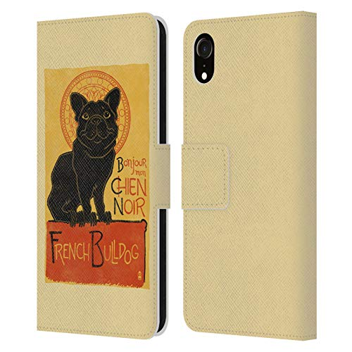 Head Case Designs Officially Licensed Lantern Press French Bulldog Dog Collection Leather Book Wallet Case Cover Compatible with Apple iPhone XR