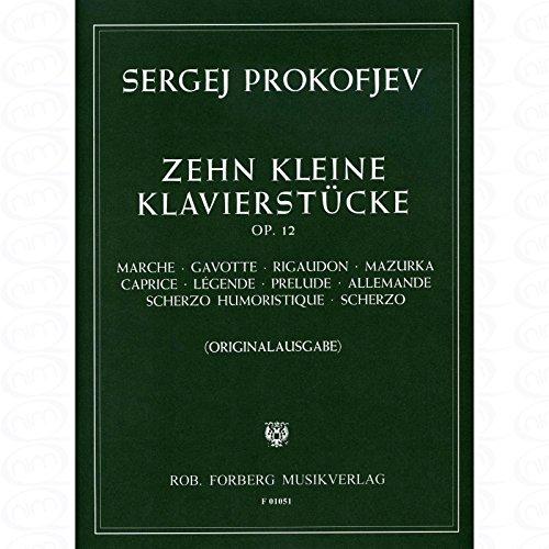 10 KLEINE KLAVIERSTUECKE OP 12 - arrangiert für Klavier [Noten/Sheetmusic] Komponist : PROKOFIEFF SERGEI