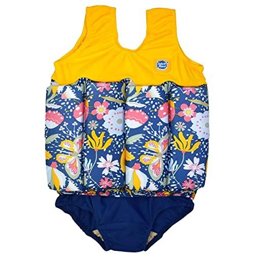 Splash About Girls Kinder-Schwimmanzug mit verstellbarem Auftrieb, Garden Delight, 4-6 Jahre