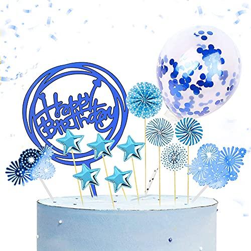 13 decorazioni per torta di compleanno, per torte, con glitter per compleanno, per torte e decorazioni di compleanno