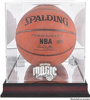 Orlando Magic Mahogany Logo Basketball Display Case and Mirror Back