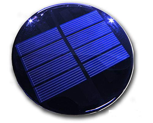 Solarzelle 2V 300mA 0,6W 98mm Durchmesser Polykristallin vergossen