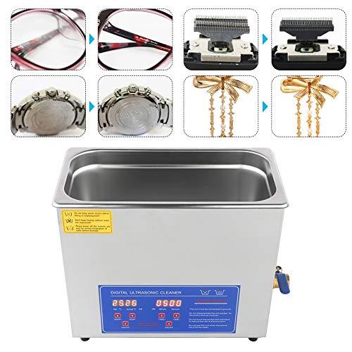 AYNEFY Pulitore a ultrasuoni Ultrasonic Cleaner digitale Ultra Sonic Cleaner Orologio da bagno Timer in acciaio inox pulizia serbatoio 6L Ultrasonico spina EU 220V