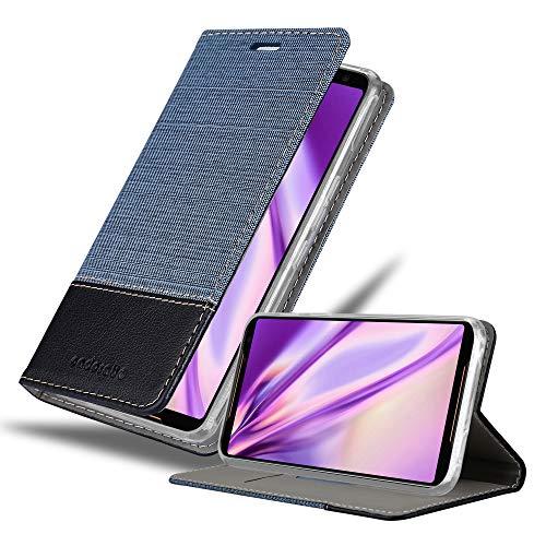 Cadorabo Hülle für Asus ROG Phone 2 in DUNKEL BLAU SCHWARZ - Handyhülle mit Magnetverschluss, Standfunktion & Kartenfach - Hülle Cover Schutzhülle Etui Tasche Book Klapp Style