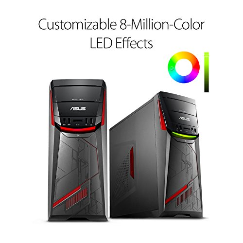 ASUS G11CD Gaming Desktop, Intel Core i7 Processor, GeForce GTX 1050, 1TB HDD, 8GB DDR4, Customizable RGB Lighting