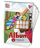 Sabbiarelli Sand-it For Fun - Álbum Bella Italia: 5 Hojas pre-pegadas para Colorear con la Arena (Arena no incluida), Adecuado para niños de años 5+,