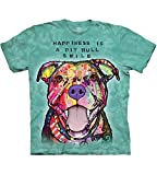 The Mountain Pit Bull Smile Adult T-Shirt, Teal, Medium