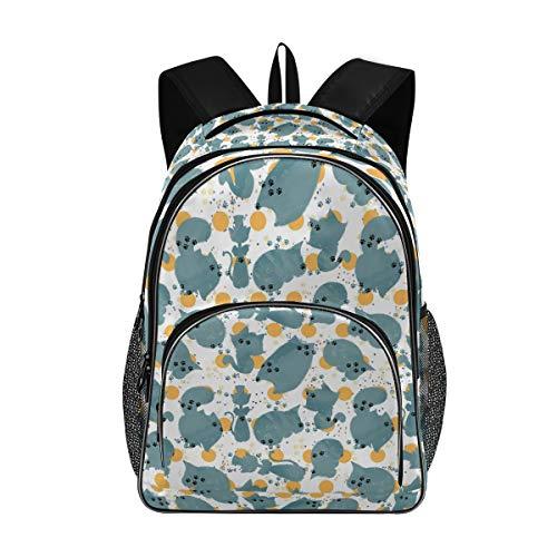 Stilvolle große Rucksack personalisierte Laptop-Reise für Mädchen Junge Schultasche mit Mehreren Taschen Kleintiere