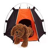 GCSEY Práctica La Tienda Portable Que Acampa Plegable para Mascotas Dog House Jaula del Gato del Perro Tienda De Campaña Operación Fácil Hexagonal Refugio Valla