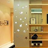 20 X Star Art Spiegel Wandaufkleber OberfläChe Aufkleber Wandsticker Wandtattoo Home Room Diy Decor...