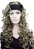 3/4 Band Headband wig Women's Brown Mixed Color Long Curly Wigs for Women ladies wigs Wiginway