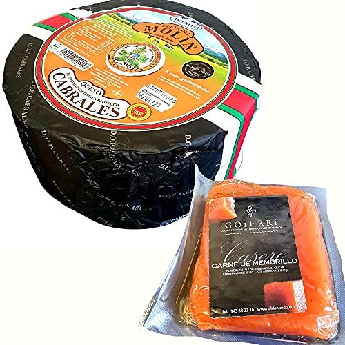 Queso Cabrales Denominación de Origen Protegida Peso Aproximado 2,5 kilos - Queso Cabrales con Membrillo Goierri - Queso Galardonado en varias ediciones con el premio World Cheese Award