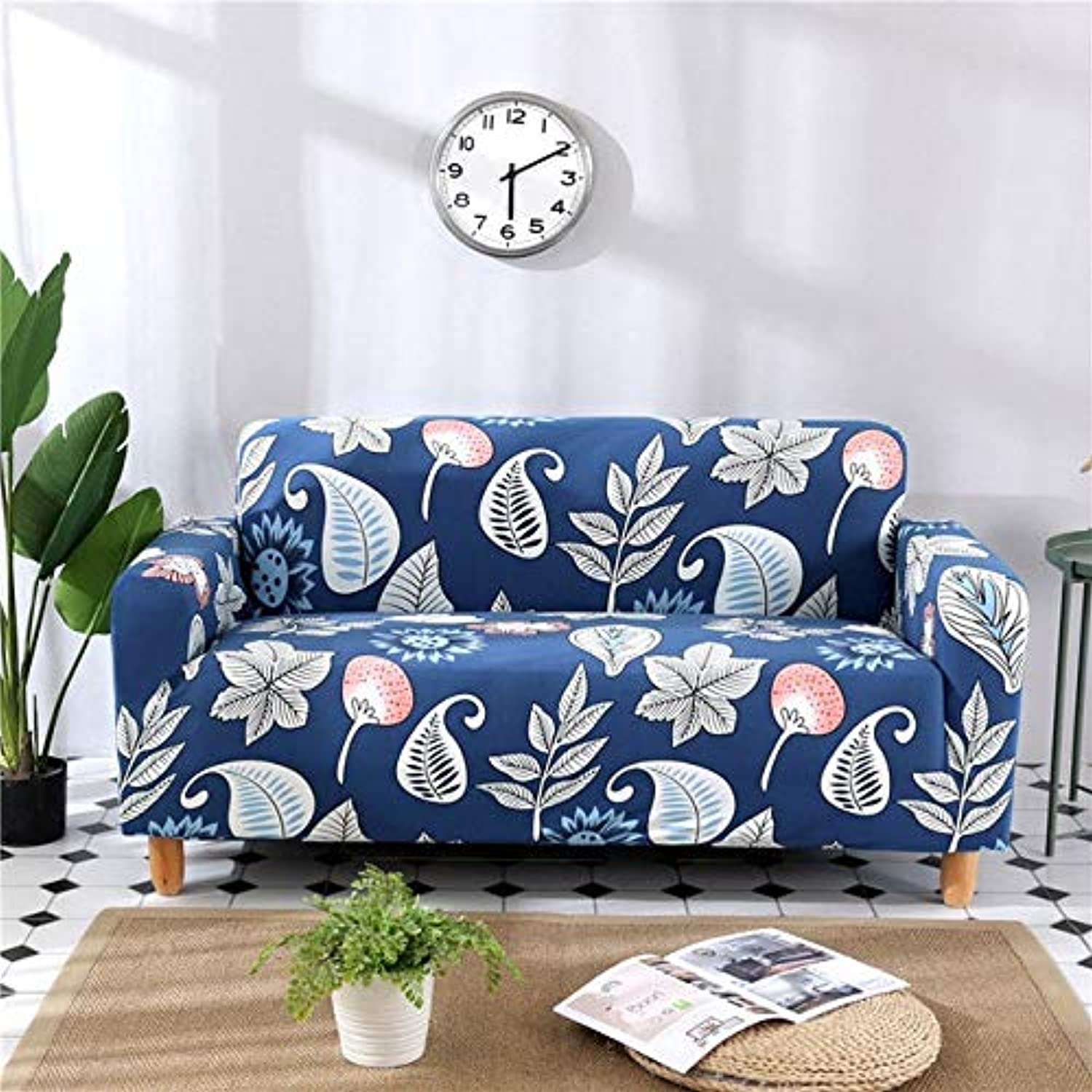 Elastic Sofa Cover Set for Living Room Sofa Towel SlipResistant Sofa Covers for Pets Strech Sofa Slipcover   colour16, 2pc Cushion Cover