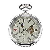 Treeweto - reloj de bolsillo para hombre, color plata con...