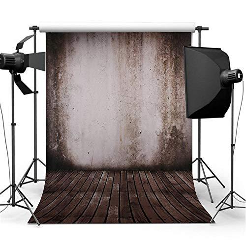 Fotografie achtergrond, 5x7FT nanometer retro muur parketvloer fotografie-achtergrond achtergrond studio prop brown fotografie rekwisieten decoraties