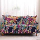 Fundas para Sofa 2 Plazas Fundas de Sofa Ajustables Elasticas Adaptables La Funda para Sofa Antideslizante Cubre Protector Sofa Gatos Arañazo Esquinero Colorido Paisaje Otoñal