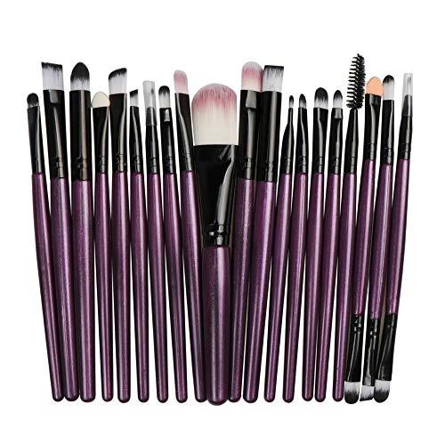 Pinceau De Maquillage Professionnel Fard À Paupières Foundation Eye Eye Brush Set, Purple + Black
