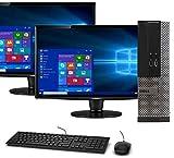 Dell OptiPlex 3020 SFF Computer Desktop PC, Intel Core i5 Processor, 16GB Ram, 120GB M.2 SSD, 2 TB HDD, New Dual Dell 19 Inch Monitor, BTO Wi-Fi & Bluetooth, Windows 10 Pro (Renewed)