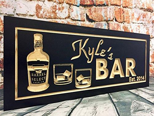 Norma Lily Bar-Schilder, Männerhöhle, Blacoden-Schilder, personalisierbar, bedruckt, Schnapsglas, Wein, Scotch, Whisky, Bier, Wodka