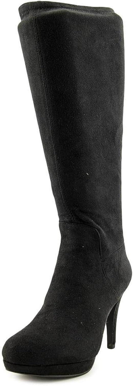 Adrienne Vittadini Womens PREMIRE Closed Toe Mid-Calf Fashion, Black, Size 5.5