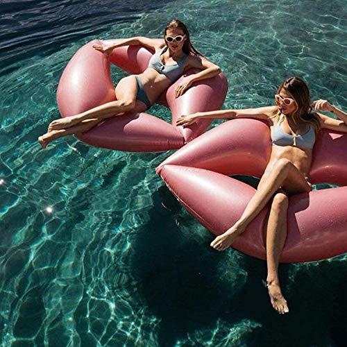 PVC Pool Beach Aufblasbare Lippen Schwimmring Wasser Schwimmen Schwimmende Reihe Strandmatratze Aufblasbares Schwimmbett Erwachsene Lippen Schwimmende Reihe Aufblasbare Sofa Liege Iteration