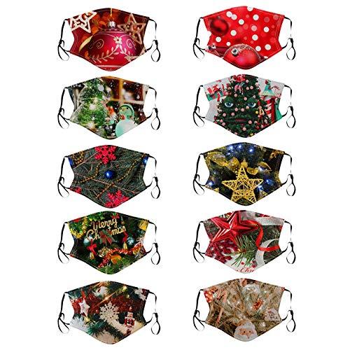 Your New Look Weihnachtlich Bedruckte bandanaen Zum Schutz Der Gesichtsbandanae, Polyester Waschbare Werden 20 × 13,5 Cm