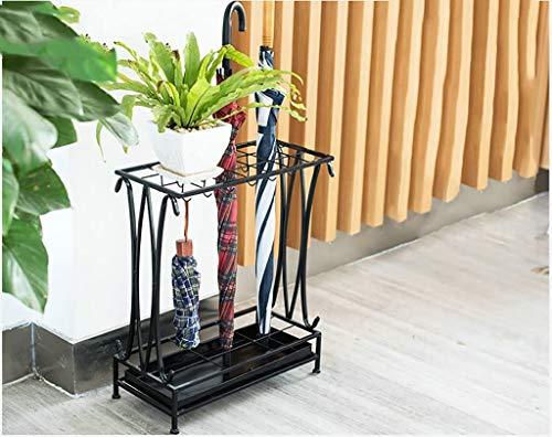 Sooiy Almacenamiento Puerta Paraguas, Paraguas, Paraguas Paraguas de pie con armazón de Hierro y el Paraguas Tazón 2020