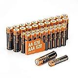 IEsafy 20 pilas AA y 20 pilas alcalinas AAA de 1,5 V, pilas desechables de larga duración, para juguetes, linternas, mando a distancia, radio, despertador y reloj